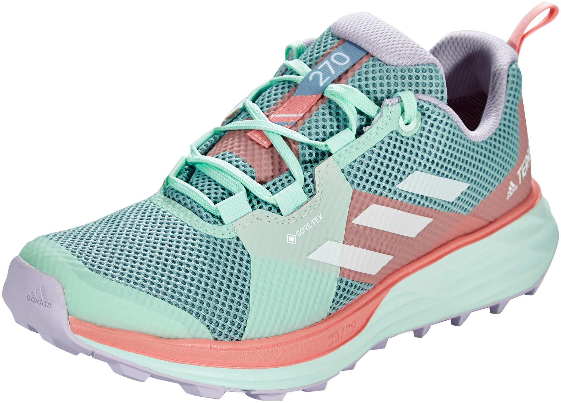 adidas TERREX Two Gore-Tex Zapatillas Trail Running Mujer, ash  grey/footwear white/glory pink